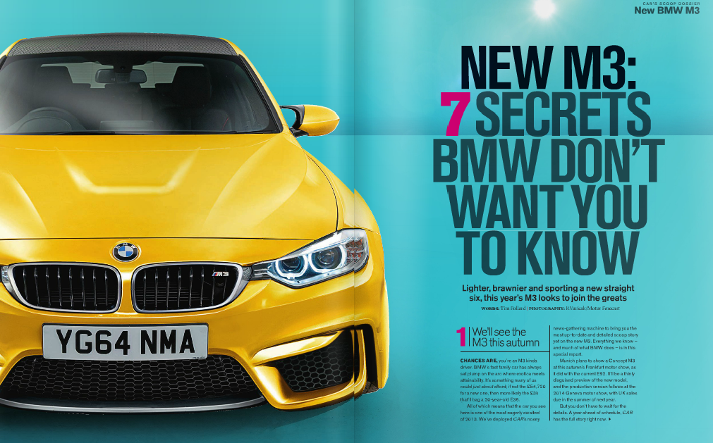 car magazine previews 2014 bmw m3 4 downshift autos. Black Bedroom Furniture Sets. Home Design Ideas