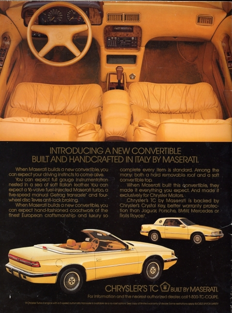 Chrysler TC Ad