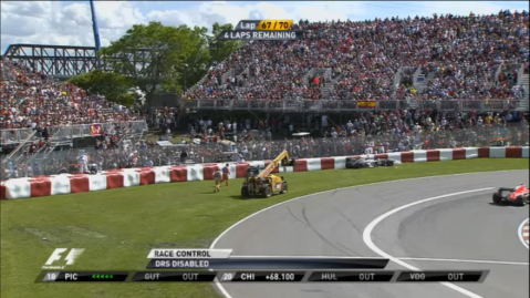 Canadian GP Gutierrez crash