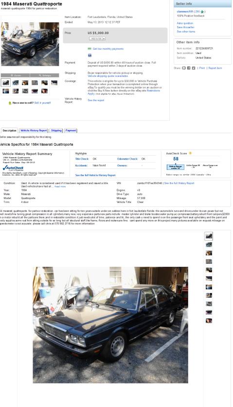 Maserati Nics Car