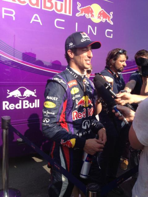 Ricciardo Red Bull testing